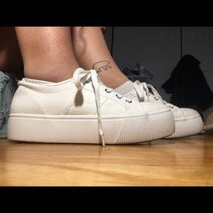 Steve Madden Emma Platform Sneakers White